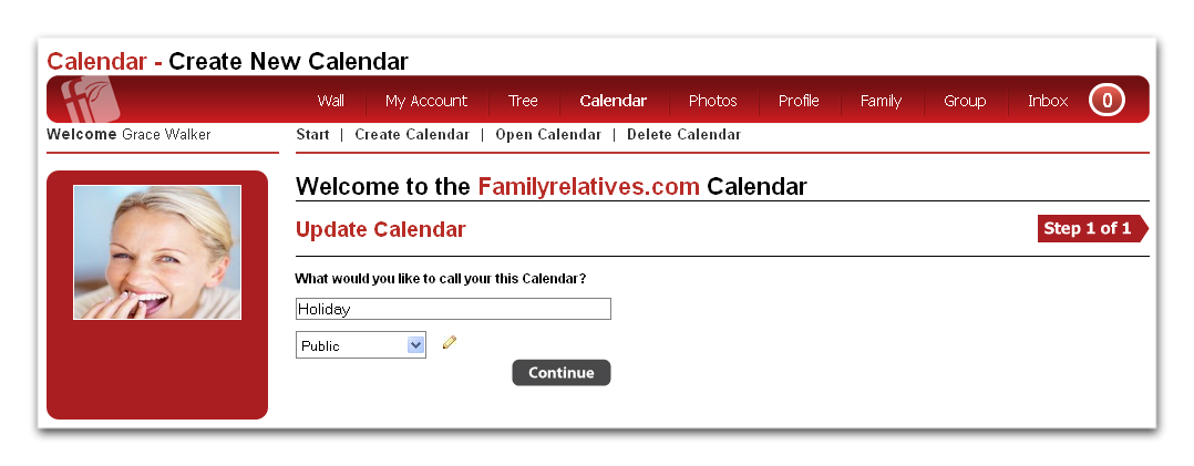 Edit the Name of Calendar