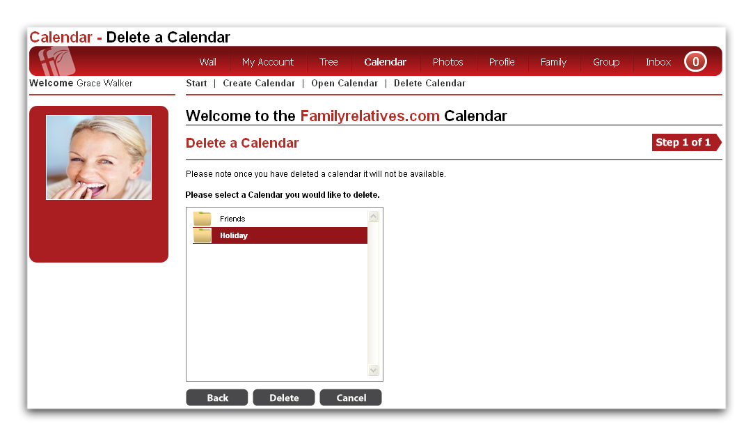 How to remove or delete a calendar